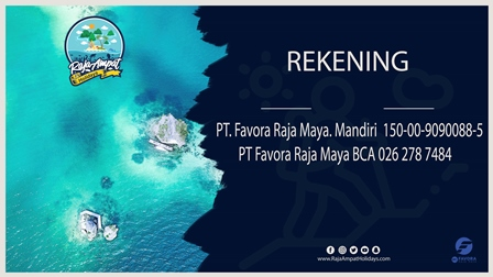 Banner Rekening Raja Ampat - PT Favora for web
